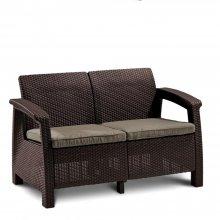 Диван Афина Мебель Yalta 2set AFM-1020A Brown