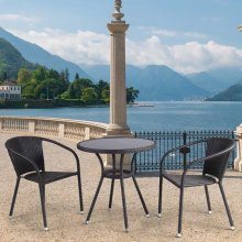 Комплект дачной мебели Афина Мебель T282ANS/Y137C-W53 Brown 2Pcs