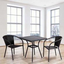 Комплект дачной мебели Афина Мебель T282BNS/Y137C-W53 Brown 2Pcs