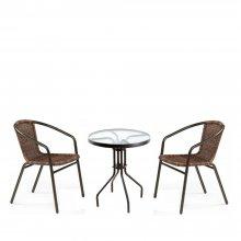 Комплект дачной мебели Афина Мебель CDC02-TLH060-D60 Brown