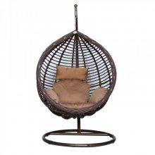 Подвесное кресло KVIMOL KM-0021 большая коричневая корзина