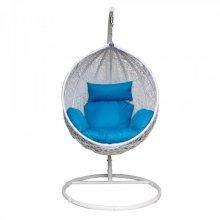 Подвесное кресло KVIMOL KM-0031 большая голубая корзина