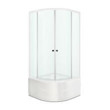 Душевой уголок Domani-Spa Fit 99 high, без поддона, сатин матированное стекло