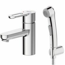Смеситель Bravat Stream-D F137163C-1, для умывальника, с гигиеническим душем